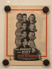 DEAD RECKONING Vintage Original Magazine Advertisement - 1947 - HUMPHREY BOGART