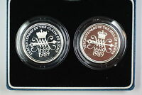 1989 United Kingdom Brilliant Uncirculated L2 Two Pound Mace Coins Tercentenary