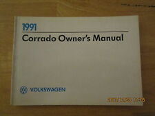 1991 VW Volkswagen Corrado Factory Original Owners Owner's Manual G60
