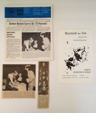Vtg 1970 Oakton, VA Elementary Reynard the Fox Play Program w/ Newpaper Articles