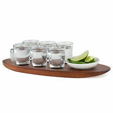 Cantinero Tequila Tasting Set with Serving Tray & Shot Glasses - 9 Pieces - Bar