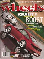 Wheels Apr 95 911 Turbo F355 Saab 900 E36 Compact Maxima Magna