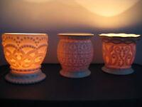 PUIL LENOX 24k Gold Favor Gift Wedding Shower Candle Holder Fine China Vase Dish