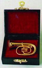 Barotone Tuba, Dolls House Miniature 1/12 Scale Musical wind Instrument