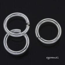 6 Sterling Silver Open Jump Ring ap. 1.2x 8mm 17ga #97316