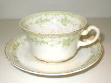 vintage FURNIVALS 19th Century China,WALDEN-Green: CUP & SAUCER