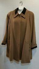 Vintage Women lined Loring Forstmann Brown Wool Coat  Sz 6 Beautiful! Union made