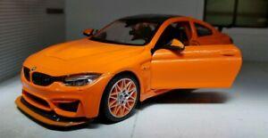 1:24 BMW M4 4 Series GTS F82 Coupe Orange Maisto 31246 Diecast Model Car BNIB
