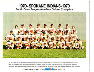 PCL CHAMPIONS 1970 SPOKANE INDIANS 8X10 TEAM PHOTO DODGERS BUCKNER HOUGH LOPES