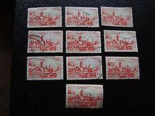 MAROC - timbre yvert et tellier n° 262A x10 obl (A29) stamp morocco