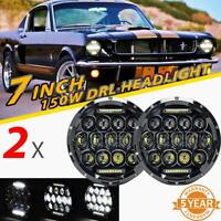 "2x 7"" 150W LED Phares DRL Faisceau Lampe Pour Jeep/Hummer/Freightliner Century"