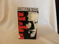 Schwarzenegger Action Pak Total Recall, Running Man, Red Heat  3 Tape Set VHS