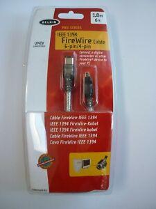 BNWT BELKIN FIREWIRE CABLE  6FT