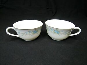 LOT of 2 COFFEE TEA CUPS Royal Court; Fine China; Blue Fantasy; Blue Roses Japan