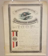 Antique 1894 Patriarch Militant IOOF Odd Fellows Certificate