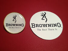 BROWNING `THE BEST THERE IS`  GUNS:  GOLD PLATED  BADGE &  FREE  STICKER