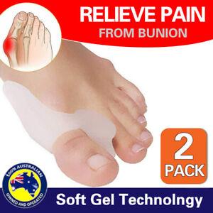 2 Silicone Gel Bunion Protector Toe Straightener Separator Alignment Pain Relief