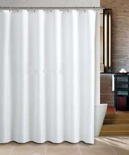 Duschvorhang Schlicht Weiß 180x180 Textil Wannenvorhang mit Ringe