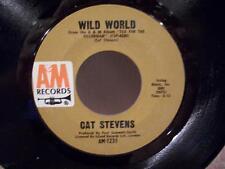 """CAT STEVENS """"WILD WORLD"""" NEAR MINT 45rpm RECORD"""