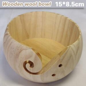 Holzgarn Garnschale Schüssel Handstrickgarn Bowl Wollschale Stricken Häkeln Holz