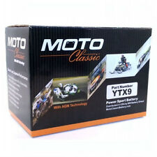 New Moto Classic YTX9 12V Sealed Lead Acid Motorcycle Battery YTX9-BS GTX9-BS