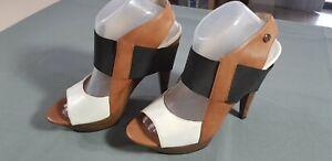 Errol Arendz Cape Town, Multi Coloured Nana Heels, Size 40, AU 8.5, US 9.