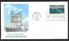 1984 USA first day cover for 25th anniversary of St Lawrence Seaway 26 June '84