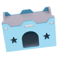 Small Pet Supplies Hamster Chinchilla Ferret Wooden House Sweet Home - Blue