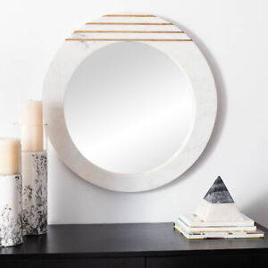 Safavieh Kenley 22.5 In. Retro Chic Round Mirror, Marble