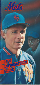 1991 New York Mets Information Guide + 2 color inserts