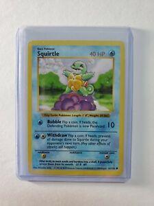 Squirtle 63/102 Common   Shadowless Base Set   WOTC Pokemon TCG   NM