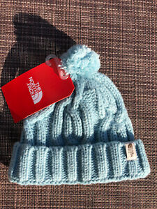 The North Face Baby Cable Minna Beanie XS 6-24 Months Windmill Blue NWT