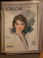 Vintage Sheet Music 1919 I Know What it Means to be Lonesome Kendis Brockman
