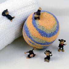 "KIDS XL Barrel of Monkeys Orange and Blue Bath Bomb Toy Inside 3"" Diameter"