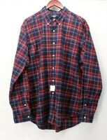 Ralph Lauren Men's XL Red Blue Plaid NWOT L/S Shirt  Extra Large