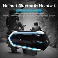 Handsfree Waterproof Motorcycle Bluetooth Headset Music FM Radio Call For Rider