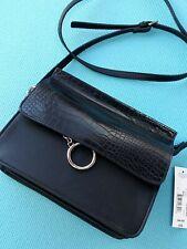 WORTHINGTON Womens Black Crossbody Shoulder Handbag Purse NEW