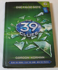 The 39 Clues: One False Note 2 by Gordon Korman 2009 Hardcover Book Scholastic