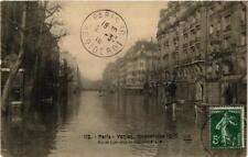 CPA PARIS Rue de Lyon prise de la gare du P.L.M. INONDATIONS 1910 (606007)