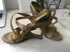 @@@@@@@@.  Gold Marc Jacobs shoes - - -Size:8 - made in italy #######