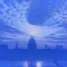 """Nuevo Y Original Marca Harrison """"St Pauls del planeta"""" Ciudad de Londres Pintura Al Óleo"""