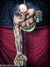 HALLOWEEN PROP HAUNTED HOUSE SKELETON FREAKED OUT ZOMBIE WALL MOUNT FIGURE