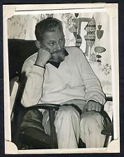 C1960's Large Photo / Study of a Man Sitting in a Chair