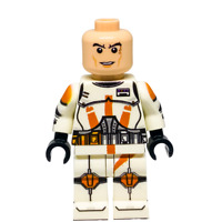 Custom LEGO Star Wars Minifigure Clone Commander Cody (Without Helmet)