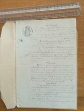 17 décembre 1881 ancien acte notarié - vente terre - 2 pages - Orléans