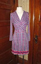 Authentic Mod 1967-72 Pleated Wrap Shirt Dress Size 6? Apples!