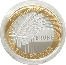 2006 Isambard Brunel Arch Piedfort £2 Two Pound Silver Proof Coin