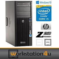 HP Z210 Workstation Intel Core i5 2500 3,7GHz To 32GB ram 256GB SSD quadro 600