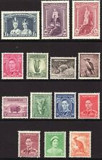 1937 - 1946 Austrailia KGVI & QE complete set (14) to £1 MVVLH Sc# 166 / 179