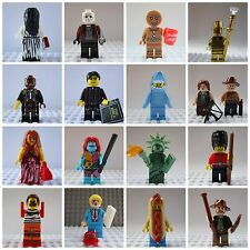 Movie Horror Mini Figures Chucky,Freddy,Jason,Buffy,Walking Dead Fit lego marvel